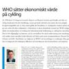 WHO sätter ekonomiskt värde på cykling