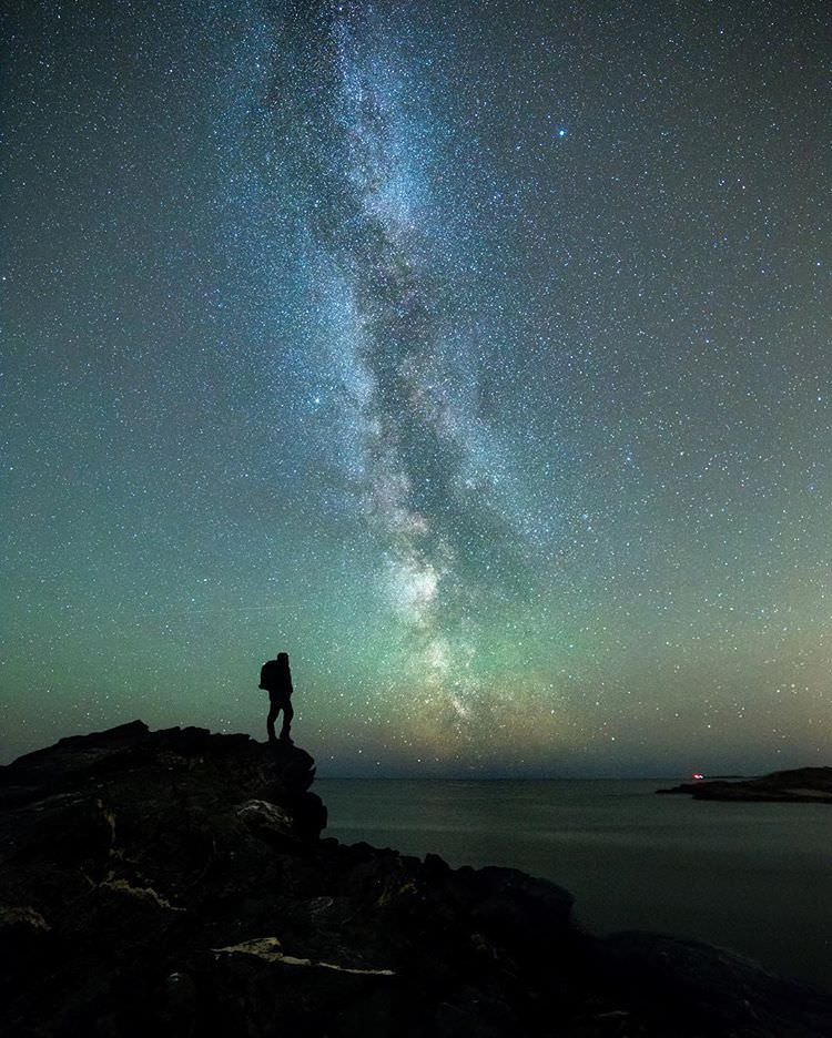 Stjernenatt i naturen