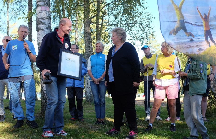 Røde Kors fikk Friluftslivets Hederspris for 2016